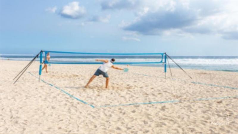 Paplūdimio teniso aikštelės ir inventoriaus nuoma Palangoje