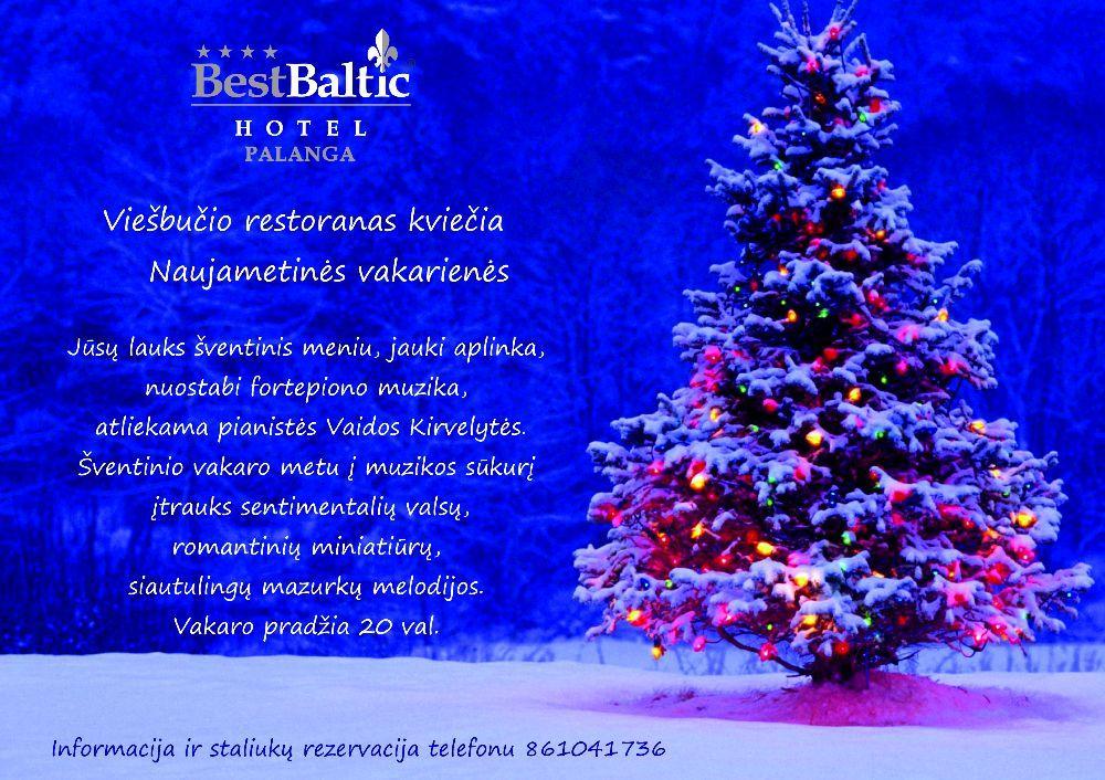 BEST BALTIC Hotel Palanga viešbučio restoranas kviečia Naujametinės vakarienės - 1