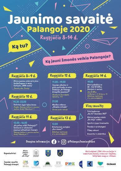 Jaunimo savaitė Palangoje 2020