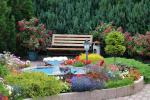 Privaten Hof mit einem Garten, Gartenmöbel, Pergola, Kinderspielplatz, PKW-Parkplatz - 12