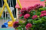 Privaten Hof mit einem Garten, Gartenmöbel, Pergola, Kinderspielplatz, PKW-Parkplatz - 16