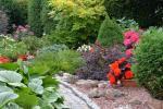Privaten Hof mit einem Garten, Gartenmöbel, Pergola, Kinderspielplatz, PKW-Parkplatz - 23