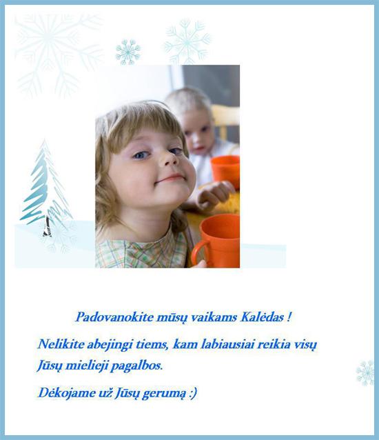 Kalledinė paramos akcija vaikams